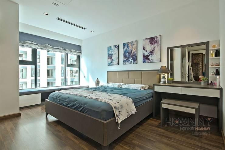 Giường phòng ngủ cao cấp hiện đại:  Phòng ngủ by Thương hiệu Nội Thất Hoàn Mỹ