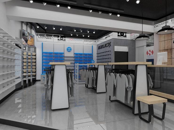 RETAIL: Centros Comerciales de estilo  por HZ ARQUITECTOS SANTIAGO DISEÑO COCINAS JARDINES PAISAJISMO REMODELACIONES OBRA