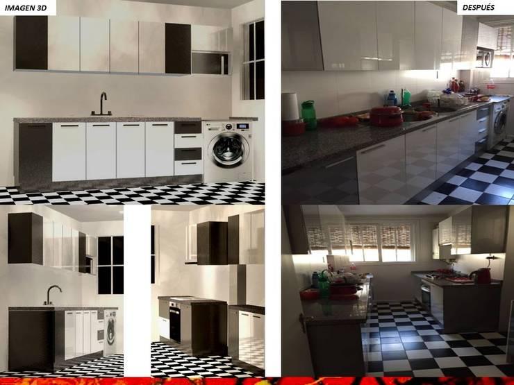 Built-in kitchens by HZ ARQUITECTOS SANTIAGO DISEÑO COCINAS JARDINES PAISAJISMO REMODELACIONES OBRA, Minimalist Engineered Wood Transparent