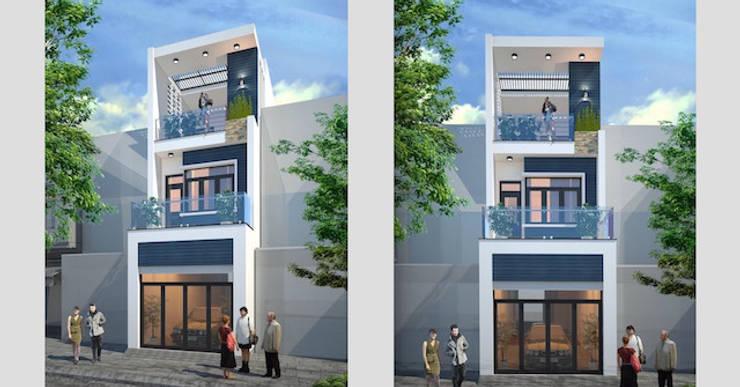 Thiết kế nhà ống 3 tầng 100m2 anh Hiếu chị Sáng ở Bắc Ninh:   by Việt Architect Group