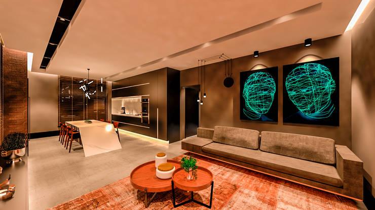 Wohnzimmer von Studio Diego Duracenski Interiores, Modern MDF