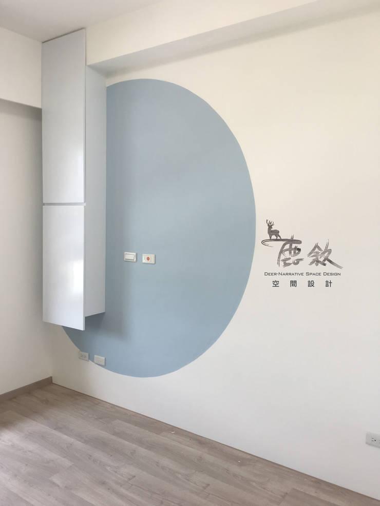 主臥床頭:  臥室 by 鹿敘空間設計
