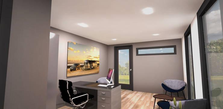 Office CUBE :  Kantoor- & winkelruimten door CUBE Homes, Modern