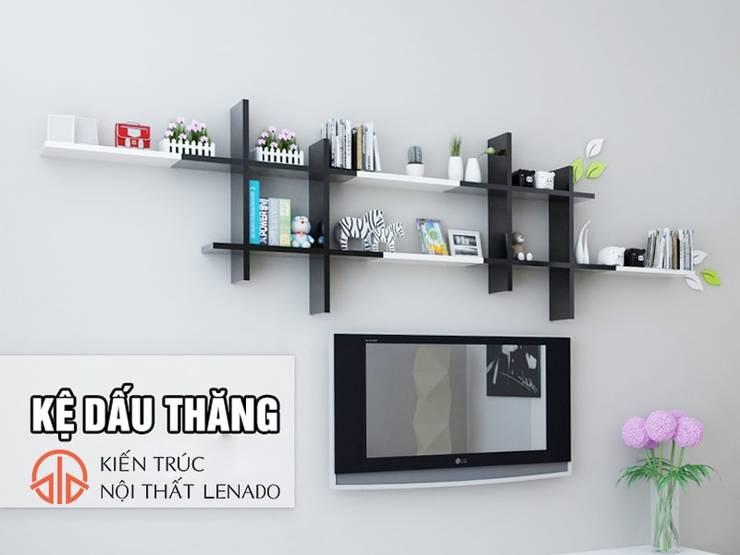 Kệ sách treo Tường:  Dining room by Lenado
