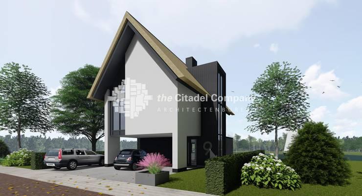 Moderne woning aan het water:  Huizen door Architectenbureau The Citadel Company, Modern