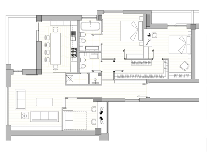 Come progettare una casa di 120 mq idee e soluzioni for Planimetria stanza