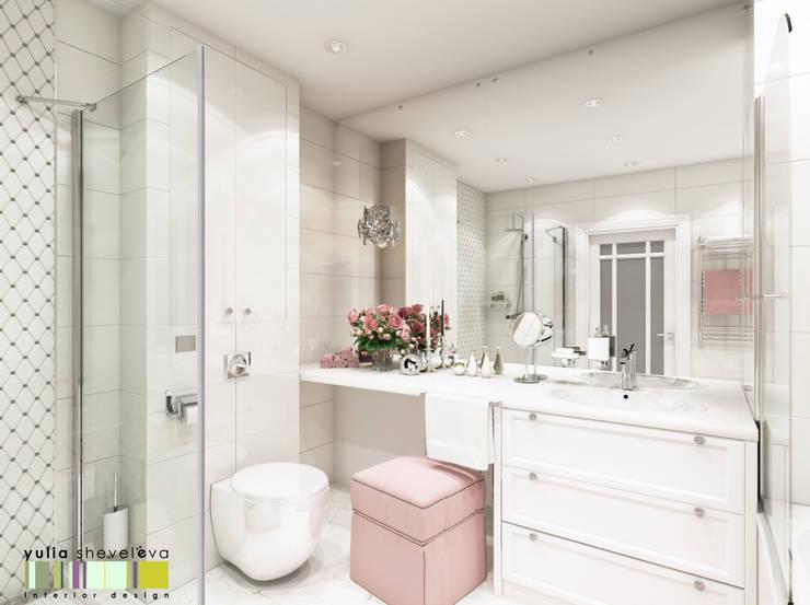 Аромат орхидеи: Ванные комнаты в . Автор – Мастерская интерьера Юлии Шевелевой