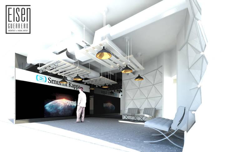 Área interna del Visualizer.: Oficinas de estilo  por Eisen Arquitecto