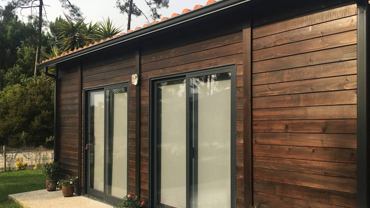 Modelo | T1 33m²: Casas pré-fabricadas  por Discovercasa | Casas de Madeira & Modulares