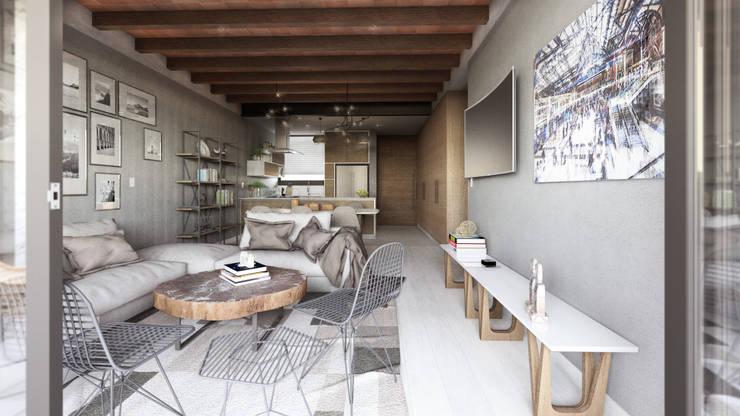 Prototipo 2: Salas de estilo moderno por Mouret Arquitectura