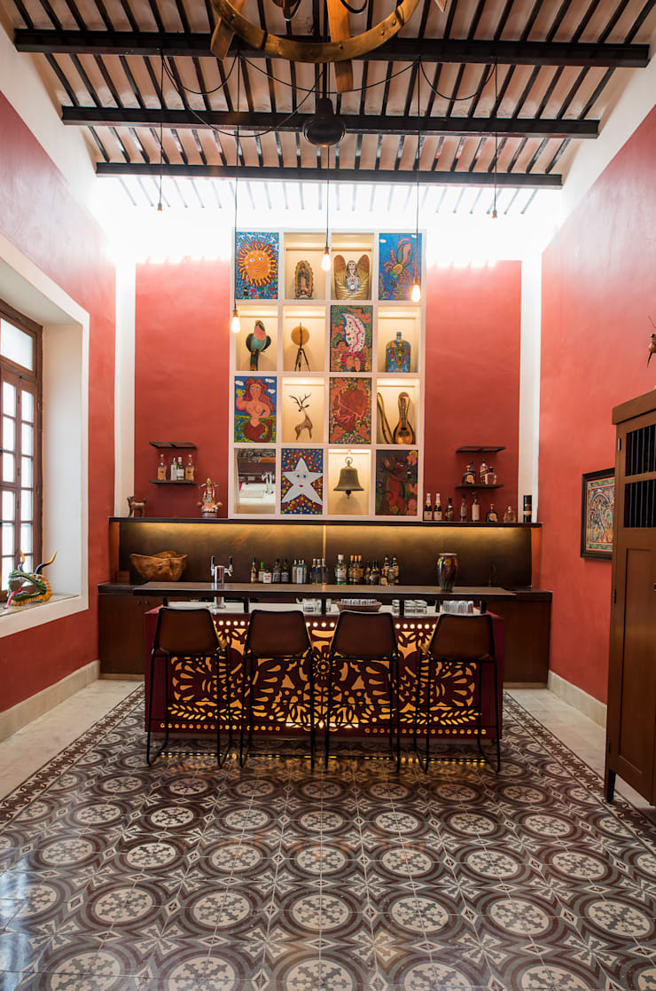 ห้องนั่งเล่น โดย Taller Estilo Arquitectura, โคโลเนียล