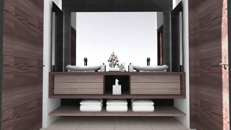 Lavabo baño principal: Baños de estilo  por Arq. Máximo Alvarado Bravo