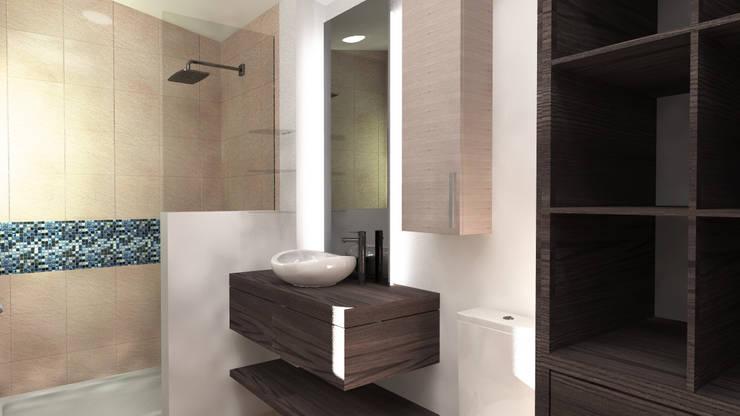 Baño recámara 2: Baños de estilo  por Arq. Máximo Alvarado Bravo