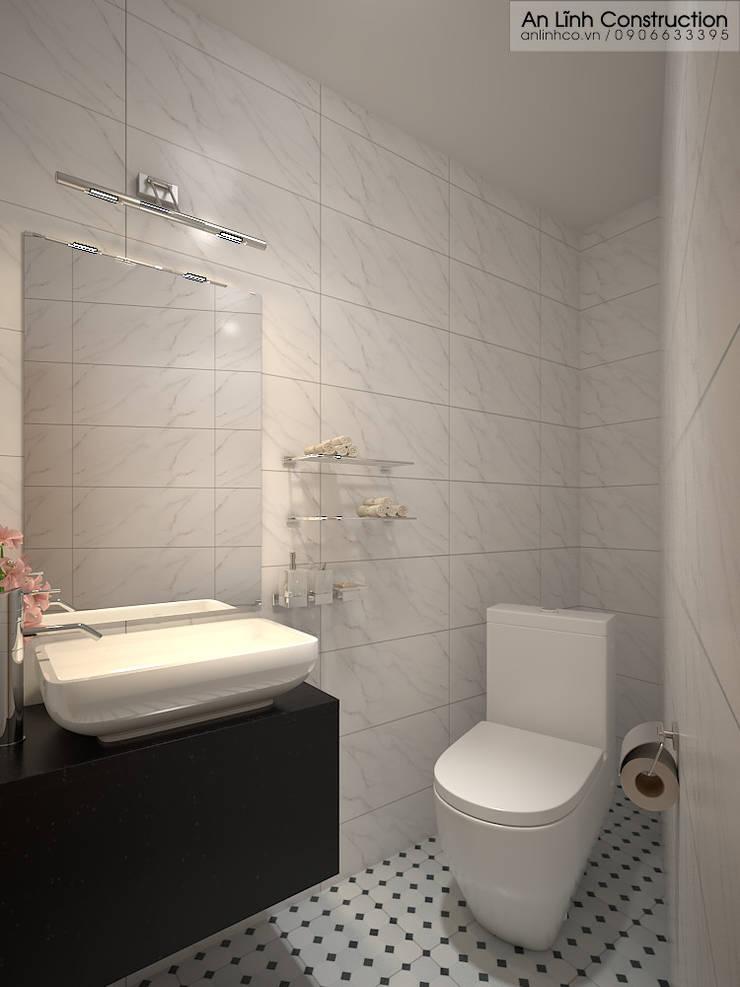 Nhà vệ sinh:   by CÔNG TY THIẾT KẾ XÂY DỰNG AN LĨNH