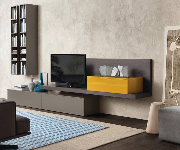 TV-hoek:  Woonkamer door Kroneman Interieurs