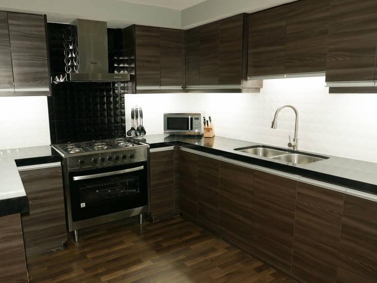 Absolute Black Granite Kitchen Countertop in Mandaue City:  Kitchen by Stone Depot