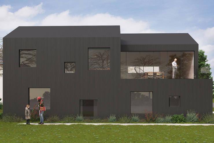 Anteproyecto casa frente al río: Casas unifamiliares de estilo  por Kgarquitectura ,Moderno