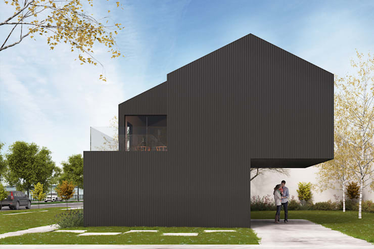 Anteproyecto casa frente al río: Casas de estilo  por Kgarquitectura ,Moderno