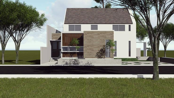 Rumah Tinggal Bekasi:   by SARAGA Studio Arsitektur