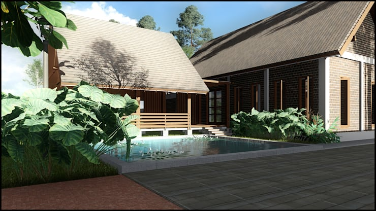 Villa Cibodas Lembang:   by SARAGA Studio Arsitektur