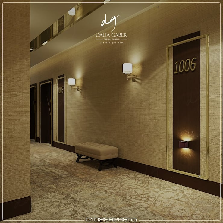 Hotel Corridor  by Dalia Gaber :  تصميم مساحات داخلية تنفيذ DeZign center office by Dalia Gaber
