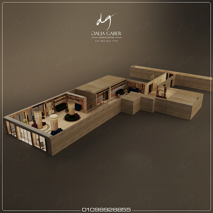 Hotel  Entrance by Dalia Gaber :  تصميم مساحات داخلية تنفيذ DeZign center office by Dalia Gaber