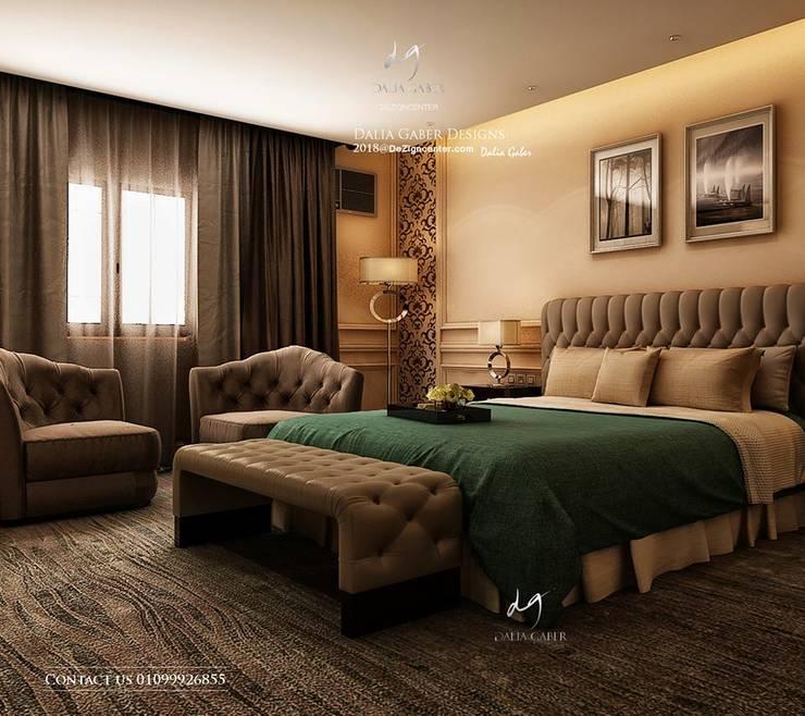 Hotel Bedroom Design by Dalia Gaber Dezigncenter office :  تصميم مساحات داخلية تنفيذ DeZign center office by Dalia Gaber