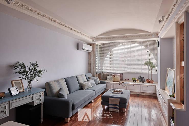 樂活  | 美式鄉村 3房2廳 |  芸匠室內設計 Artisan Design:  客廳 by 芸匠室內裝修設計有限公司
