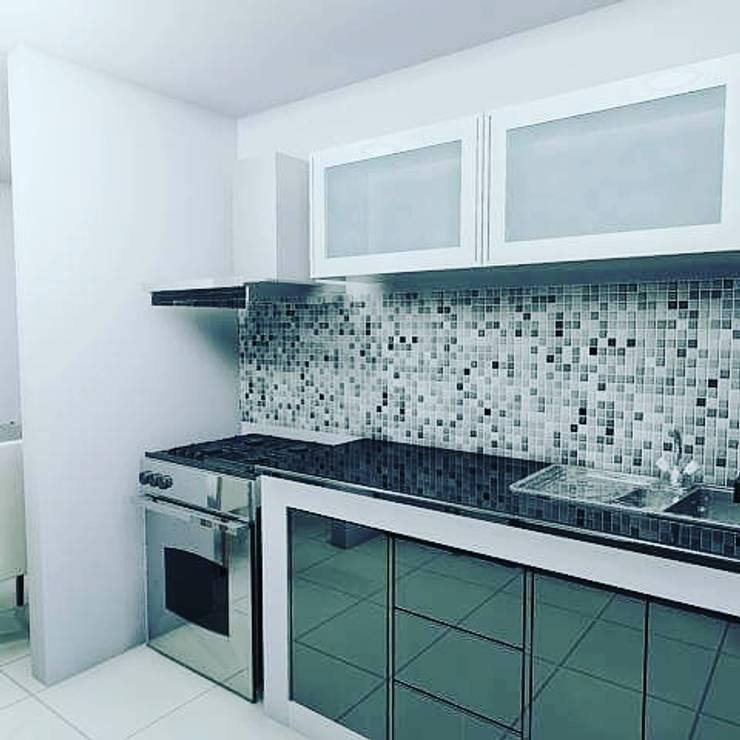 Adecuación de cocina de Arte&diseño Minimalista Aglomerado