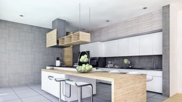 CASA ILO 2018 Cocinas de estilo minimalista de TECTONICA STUDIO SAC Minimalista