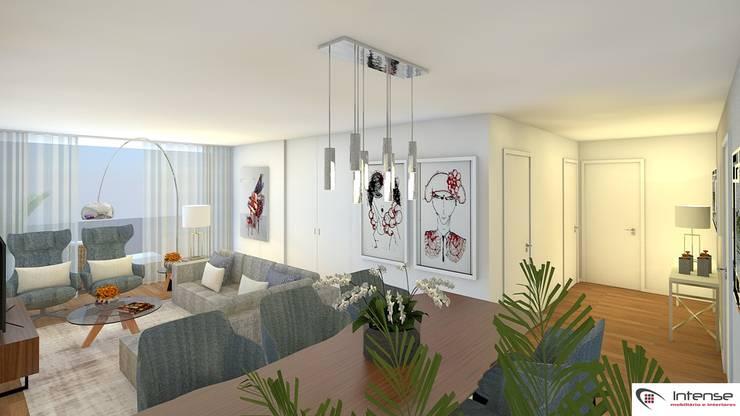 Modern Living Room by Intense mobiliário e interiores; Modern