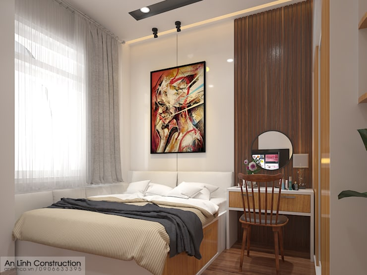 Phòng ngủ:   by CÔNG TY THIẾT KẾ XÂY DỰNG AN LĨNH