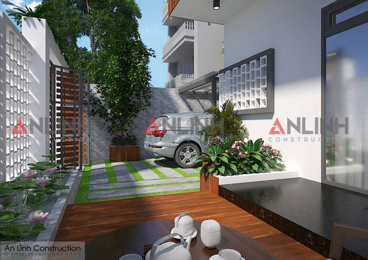 Công trình biệt thự phố NGUYỄN KIM SƠN  ở Bình Phước:   by CÔNG TY THIẾT KẾ XÂY DỰNG AN LĨNH