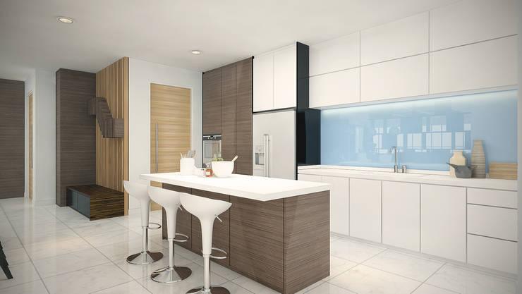 Subang Parkhomes:  Kitchen by Yucas Design & Build Sdn. Bhd.