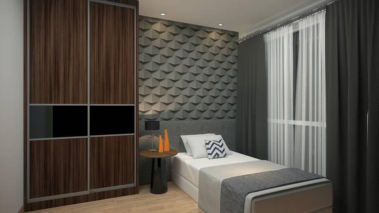 Subang Parkhomes:  Bedroom by Yucas Design & Build Sdn. Bhd.