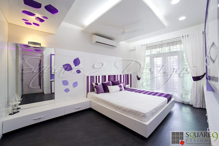 GIRL'S BEDROOM Modern style bedroom by Square 9 Designs Modern