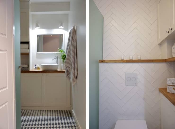 Badezimmer In Weiß Skandinavisch