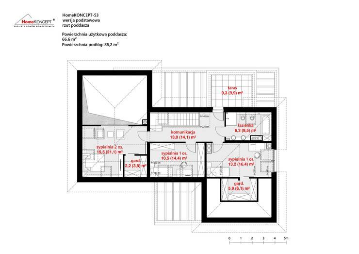 by HomeKONCEPT | Projekty Domów Nowoczesnych