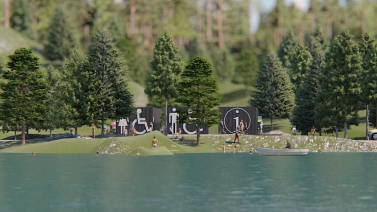 Visual de instalaciones a distancia: Casas de estilo  por Tila Design,