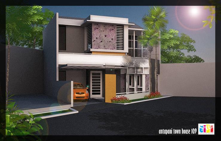 Antapani Town House:   by SARAGA Studio Arsitektur