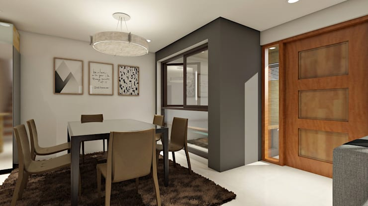 Renovation and Expansion - Dining space :  Dining room by Architecture Creates Your Environment Design Studio