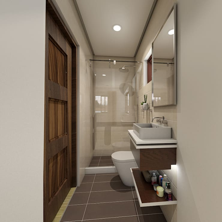 Brand new 2 storey house - Bathroom: modern Bedroom by Architecture Creates Your Environment Design Studio