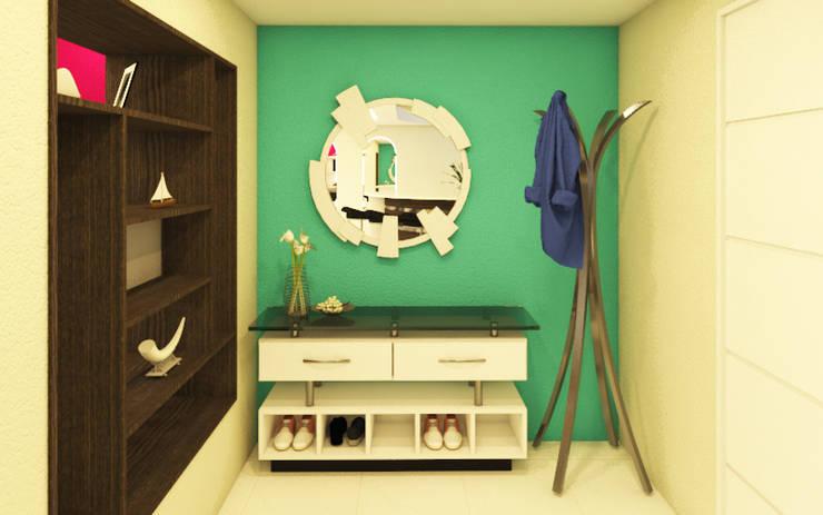 Acceso: Pasillos y hall de entrada de estilo  por Arquitecto Javier Escobar