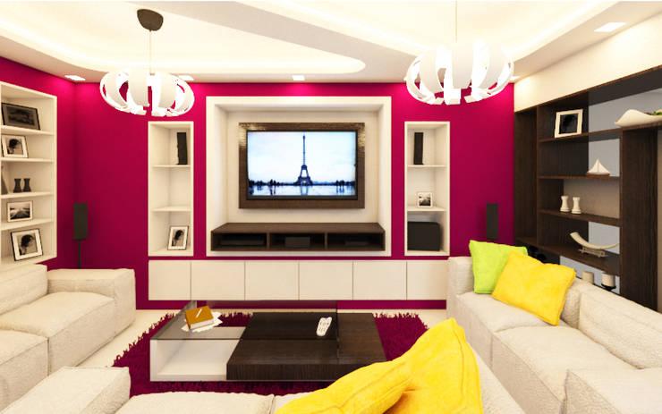Salon: Electrónica de estilo  por Arquitecto Javier Escobar
