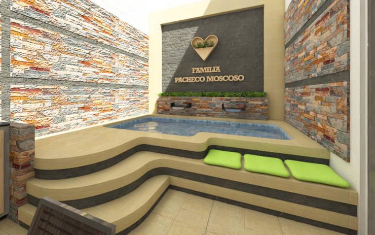 Piscina: Piscinas de jardín de estilo  por Arquitecto Javier Escobar