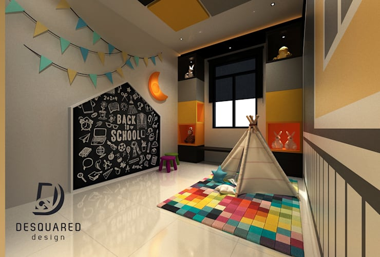 Kids Playroom View 2 by Desquared Design Modern