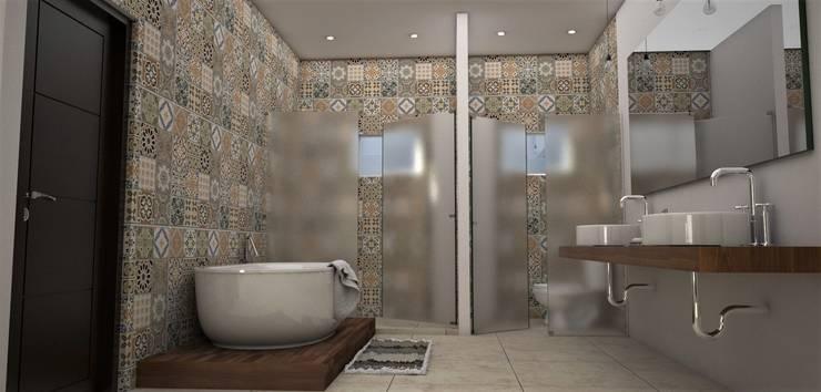 Baño: Baños de estilo  por Osuna Arquitecto