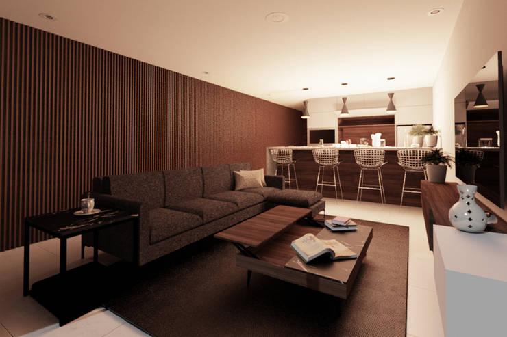 Vista Estancia: Salas de estilo moderno por eleganty