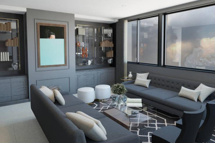 Vista Sala: Salas de estilo clásico por eleganty