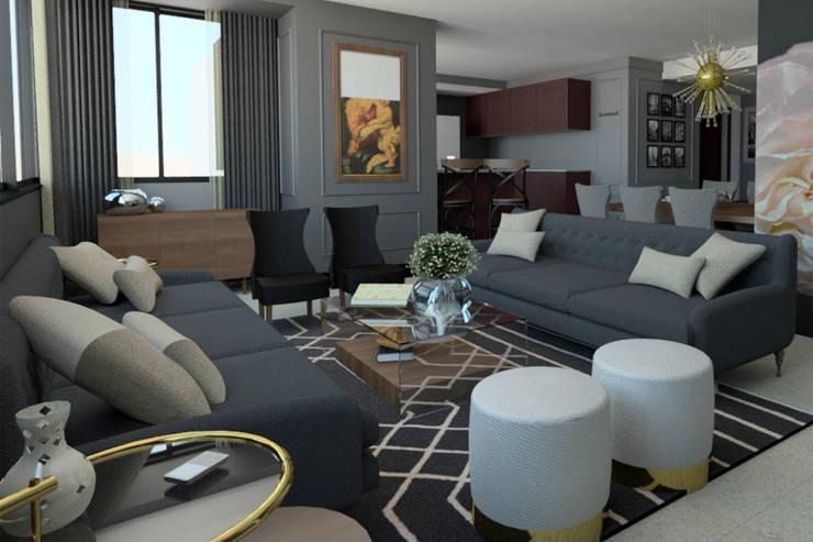 Vista Sala: Salas de estilo  por eleganty